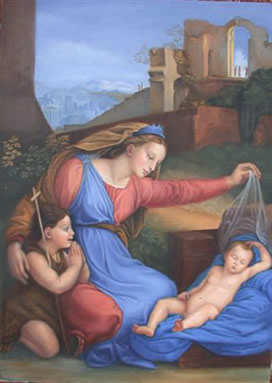 Madonna with the Blue Diadem Arrowood 2003 after Raphael 1500's