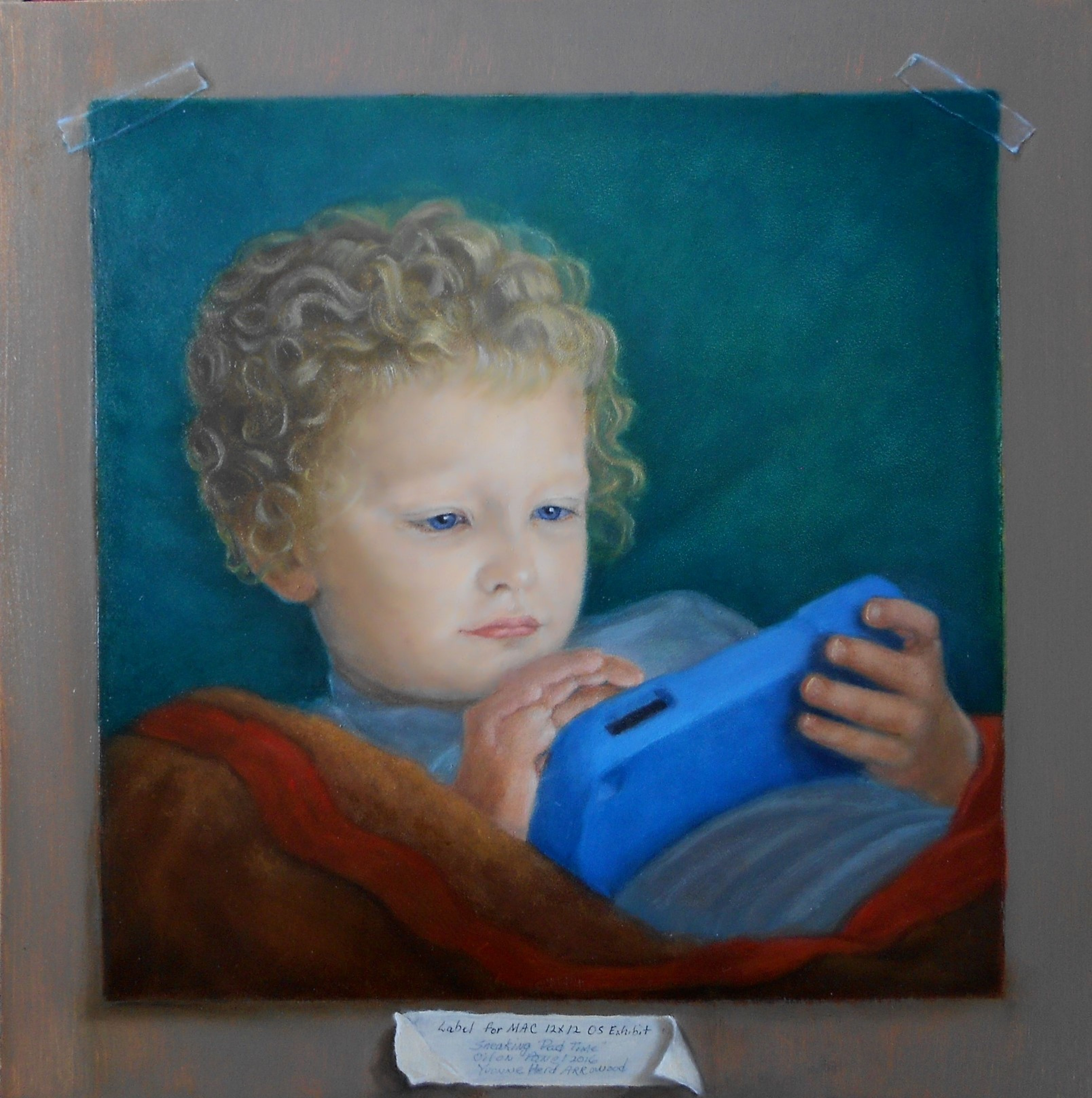 Henry Stealing Pad Time by Yvonne Herd Arrowood