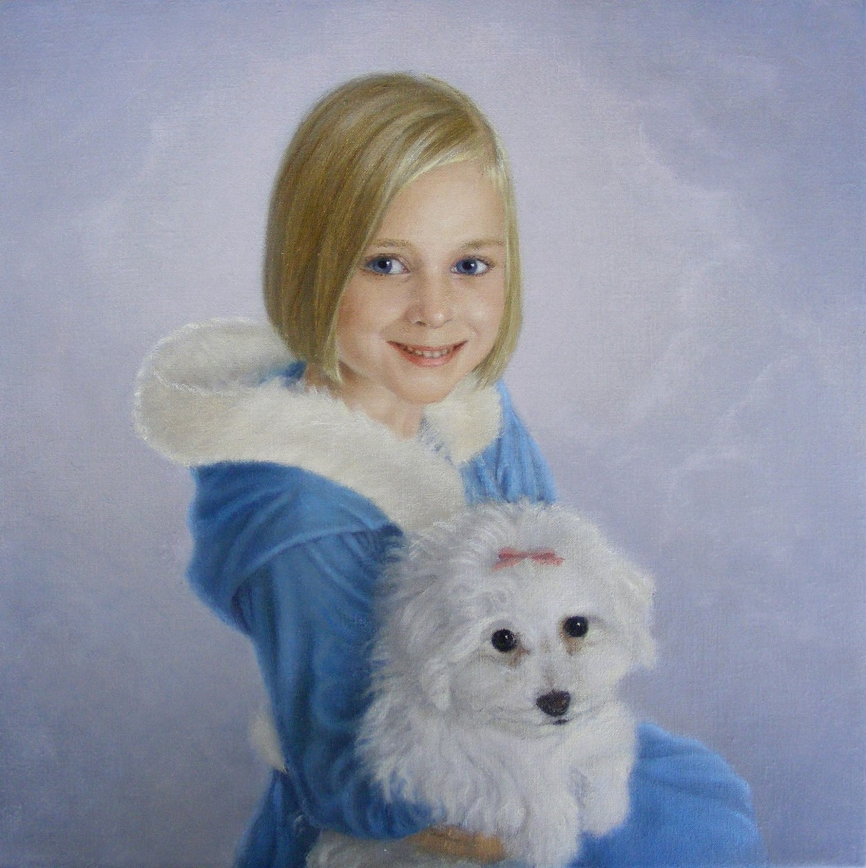 A Girl With A Dog by Yvonne Herd Arrowood
