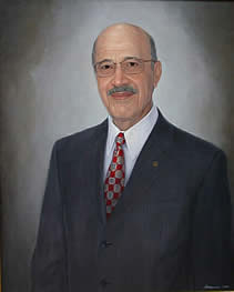 Dean Farid Sadik, Dean of Pharmacy at USC, Retired Portrait by Yvonne Herd Arrowood
