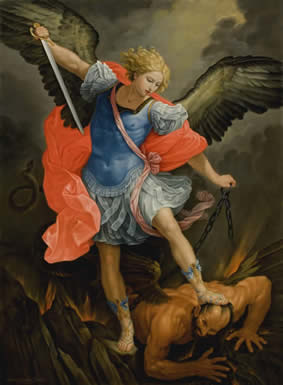 St Michael the Archangel  Arrowood after Guido Reni