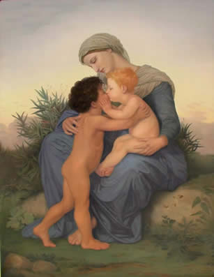 Fraternal Love Arrowood 2001 after Bouguereau 1851